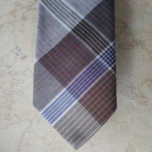 VTG Giorgio Armani Tie, grey/beige, cotton